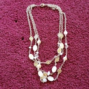 Jewelry - Vintage mop 3 strand necklace